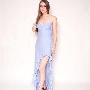 AMANDA UPRICHARD Amalia Perwinkle Blue Gown Maxi